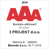 Bonitetna ocena odličnosti AAA - 3projekt